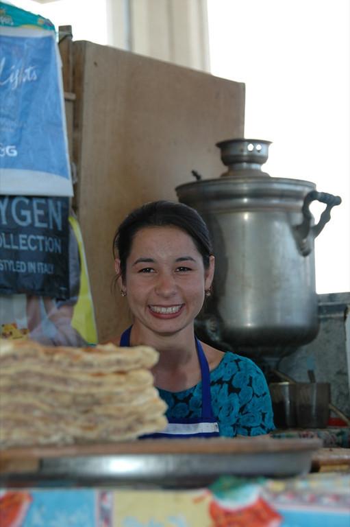 Stuffed Breads and Vendor - Ashgabat, Turkmenistan