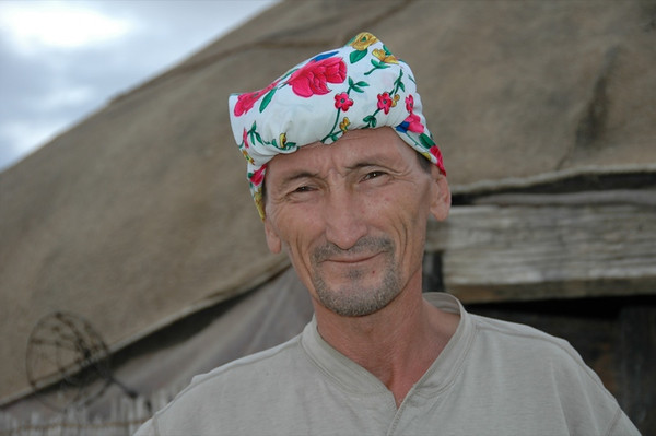 Man with Headwear - Jerbent, Turkmenistan