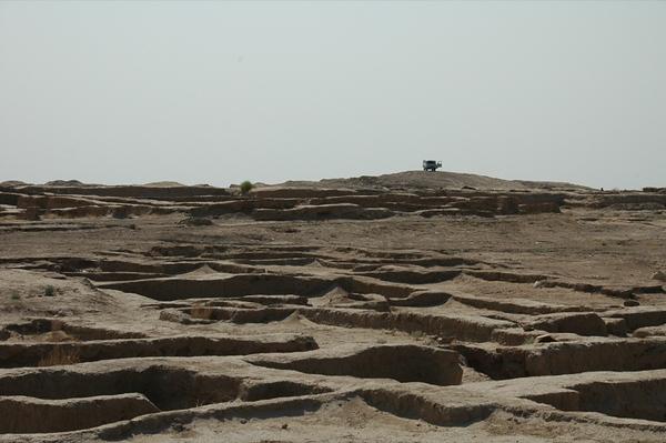 Overlooking Gonur Depe Archeological Site -Turkmenistan