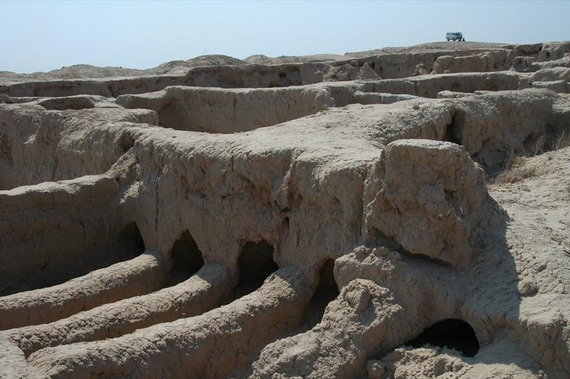 Tunnels at Archeological Site of Gonur Depe, Turkmenistan