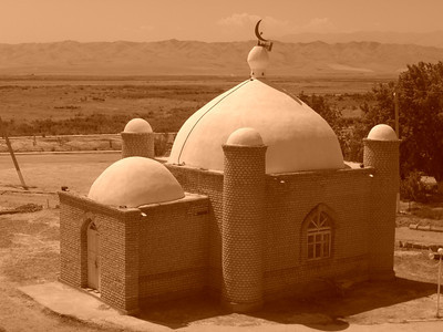 Mosque Near the Desert -  Annau, Turkmenistan