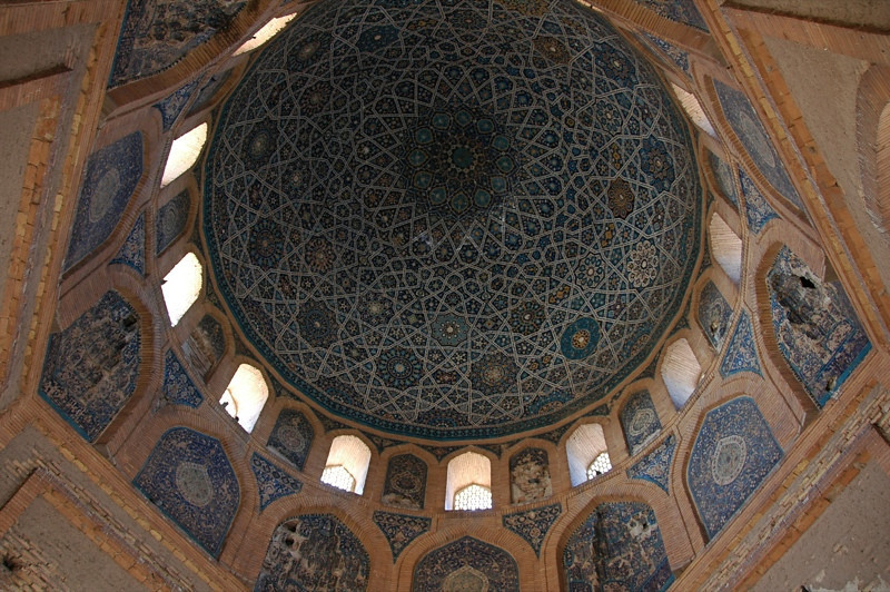 Geometric Patterns Inside Mausoleum at Konye-Urgench, Turkmenistan