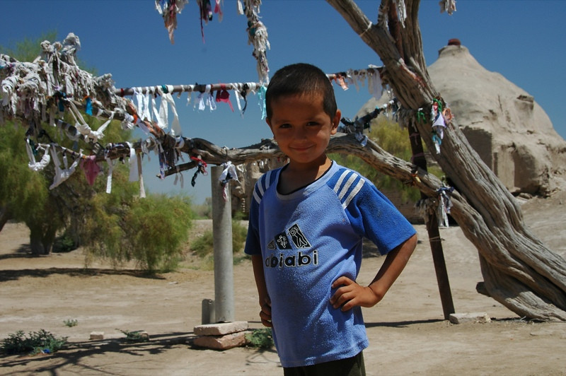 Little Boy with Ribbons for Prayers - Merv, Turkmenistan
