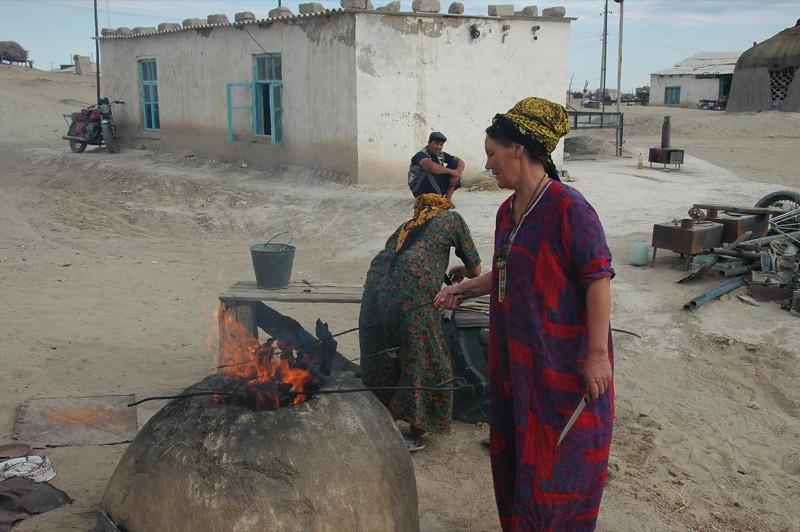 Women Cooking Goat's Head - Jerbent, Turkmenistan