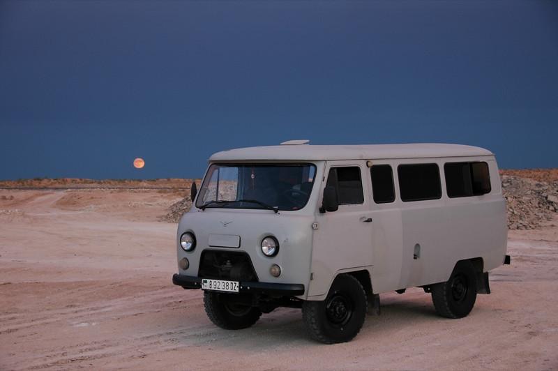 Soviet Van Transportation - Karakum Desert, Turkmenistan