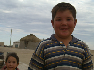 Chubby Boy and Sister - Jerbent, Turkmenistan