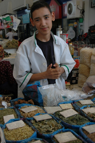 Herbal Tea Vendor at Gulustan Market - Ashgabat, Turkmenistan
