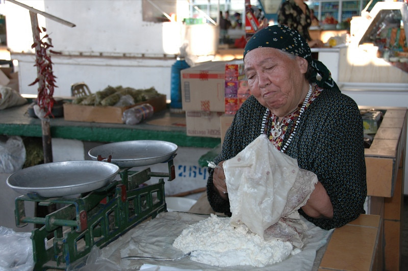 Curd at the Market - Mary, Turkmenistan