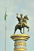 We are met by a large statue of Oghuz Khagan,