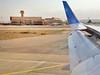 Landing at Ashgabat International Airport