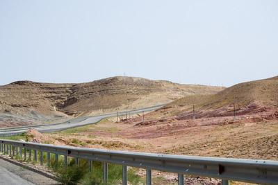 The road from Turkmenbashi to Ashgabat in Turkmenistan