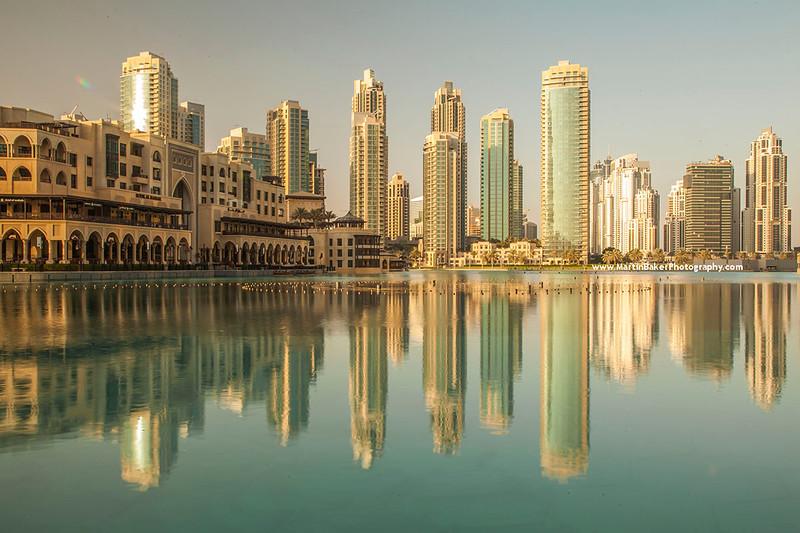 Burj Khalifa Lake, Dubai, United Arab Emirates.