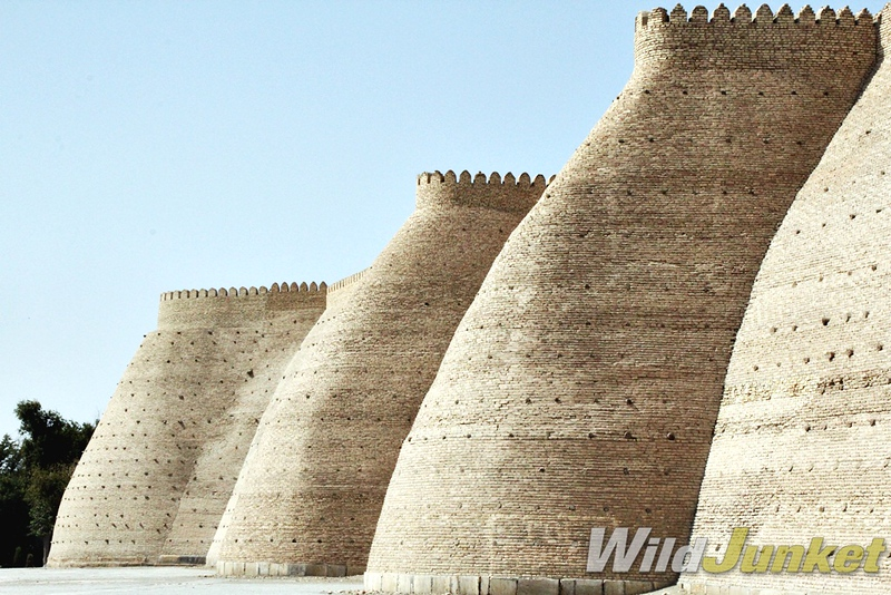 The Ark, a fortress, looms above the old town of Bukhara