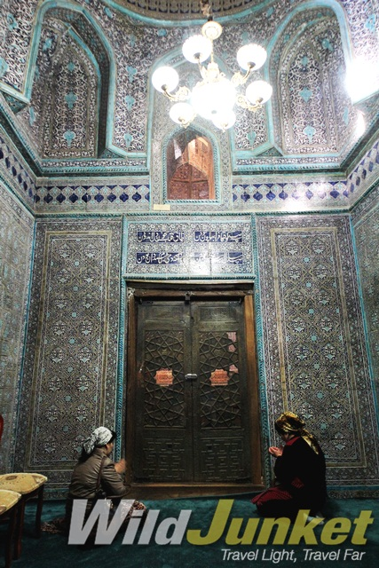 Inside Pahlova Mausoleum in Khiva