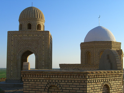 New Mausoleums at Mizdakhan Cemetery - Nukus, Uzbekistan