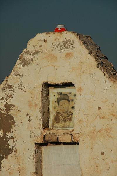 Gravesite with Teacup - Nukus, Uzbekistan