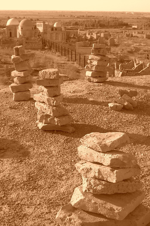 Stacks of Rocks at Mizdakhan Cemetery - Nukus, Uzbekistan