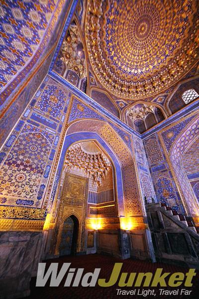 Stunning interior at the Tilla Kari Medressa