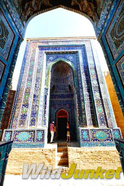The small mausoleums at Shah-i-Zinda