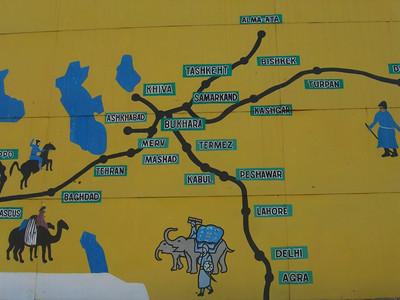 Silk Road Map - Khiva, Uzbekistan
