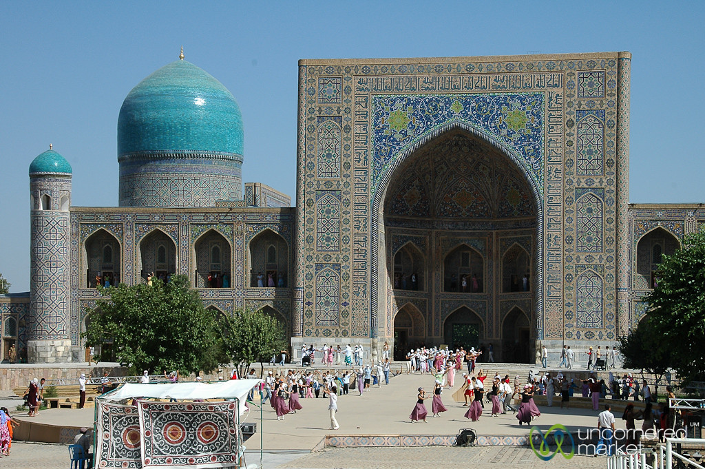Celebration at the Registan - Samarkand, Uzbekistan