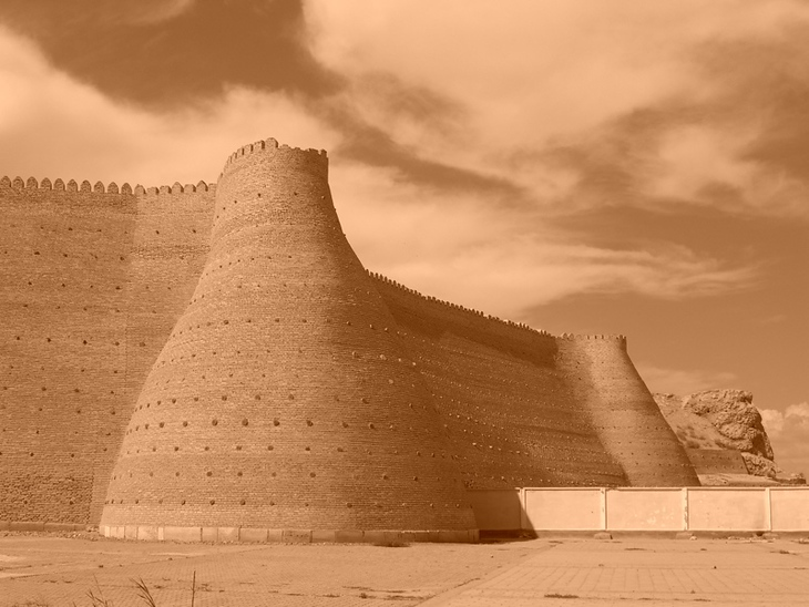 Ark and Sky in Sepia - Bukhara, Uzbekistan