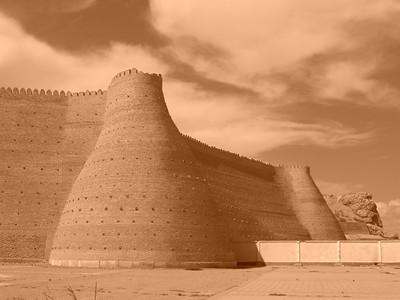 Ark and Sky in Sepia - Bukhara, Uzbekistan