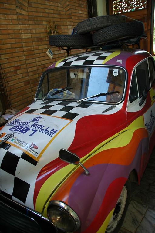Colorful Mongol Rally Car - Shakhrisabz, Uzbekistan