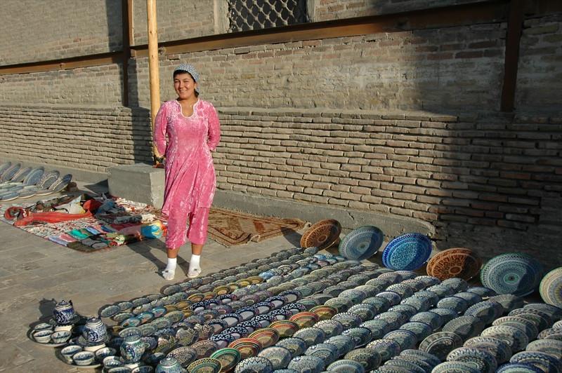 Ceramics Vendor - Bukhara, Uzbekistan