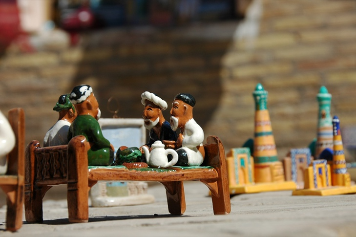 Miniature Silk Road Scene - Khiva, Uzbekistan