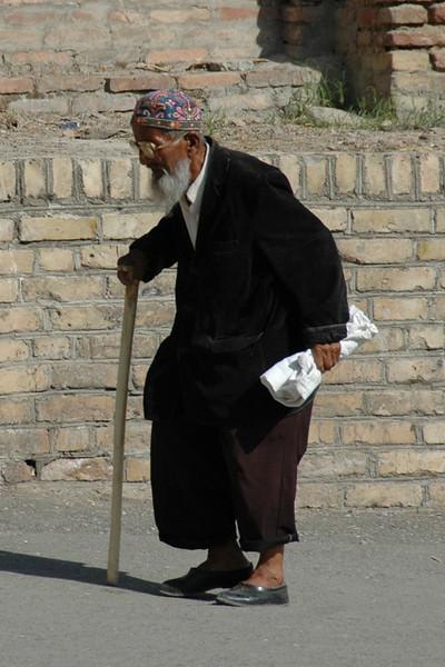 Old Man with a Cane - Shakhrisabz, Uzbekistan