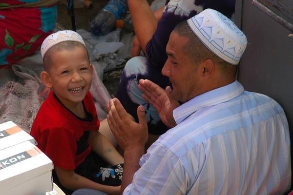 Father and Son at Ippodrom Market - Tashkent, Uzbekistan