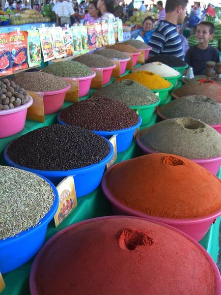Spice Stand at Krytyy Market - Bukhara, Uzbekistan