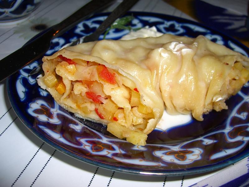 Khonem (Stuffed Pasta) - Bukhara, Uzbekistan