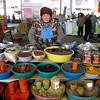 A spice seller at Chorsu Bazaar in Tashkent.