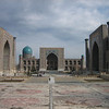 A view of the Registan, the heart of the ancient (and modern) city of Samarkand.