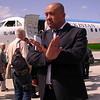 Uz 0016 geen foto's op het vliegveld van Tashkent