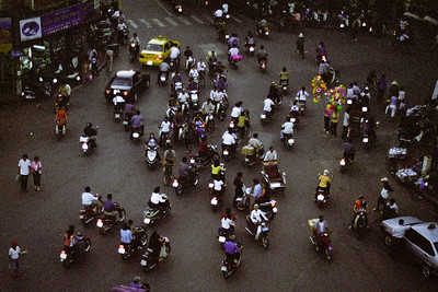 Mopeds everywhere and the honking never stops...