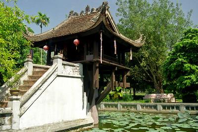 One pillar pagoda...