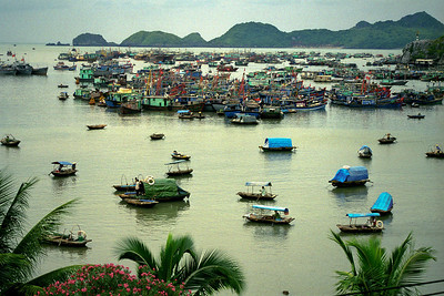 Cat Ba...people live and work on the water...