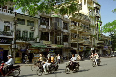 Typical street in Hanoi...