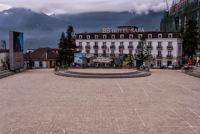 Main Square - SaPa (nestled in mountains)