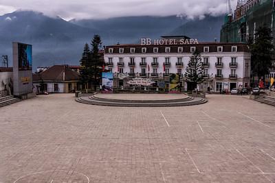 Main Square - SaPa (nestled in mountains)