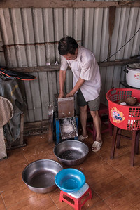 Making Coconut Juice - Mekong Delta