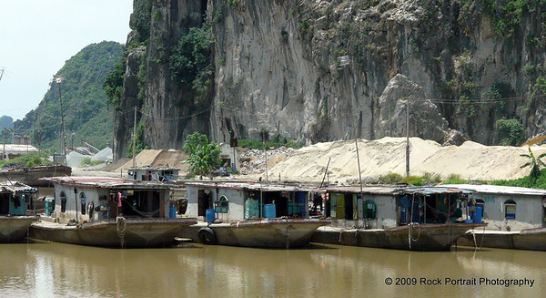 Boats used in transporting the granite for concrete processing