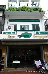 The Green Mango was my hotel in Hanoi. A very nice room, and great staff. I was on the 3rd floor looking out on the street. The green shrubbery area fronts my entire balcony space.