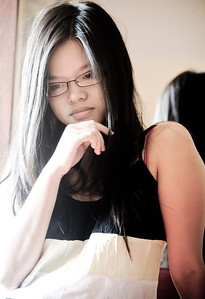Quynh by the window