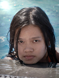 Quynh in the pool