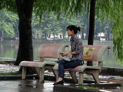 Just waiting on a friend - Hoan Kiem Lake