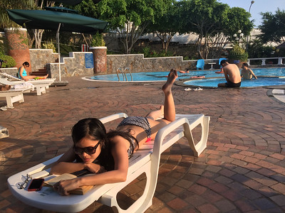 Hanging out at the Ky Hoa Hotel pool in Vung Tau